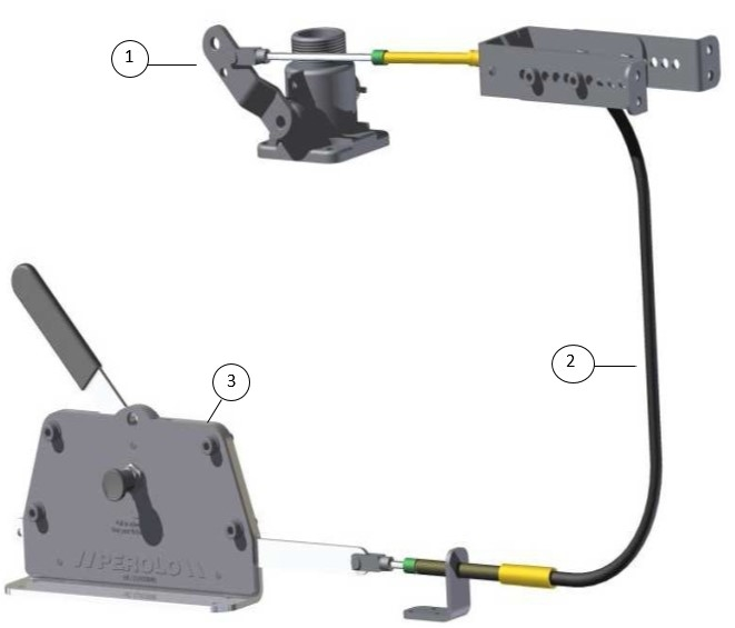 CABLE REMOTE ASSEMBLY WITH 5 METER CABLE AND 1 5